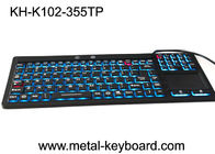 Waterproof USB Interface Industrial PC Keyboard 106 Keys No Noise With Touchpad