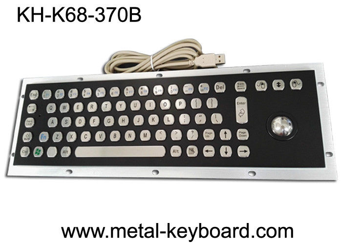Stable Performance Industrial Metal Computer Keyboard , Well Compatible Trackball Keyboard