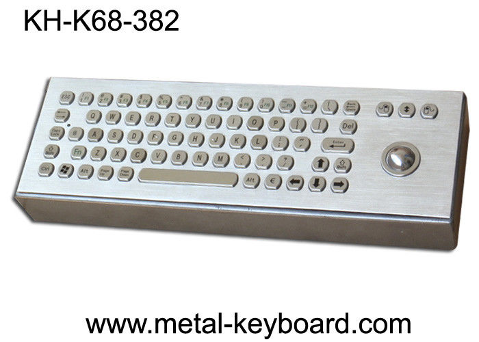 Vandal proof Industrial Computer Keyboard with trackball and 71 Keys