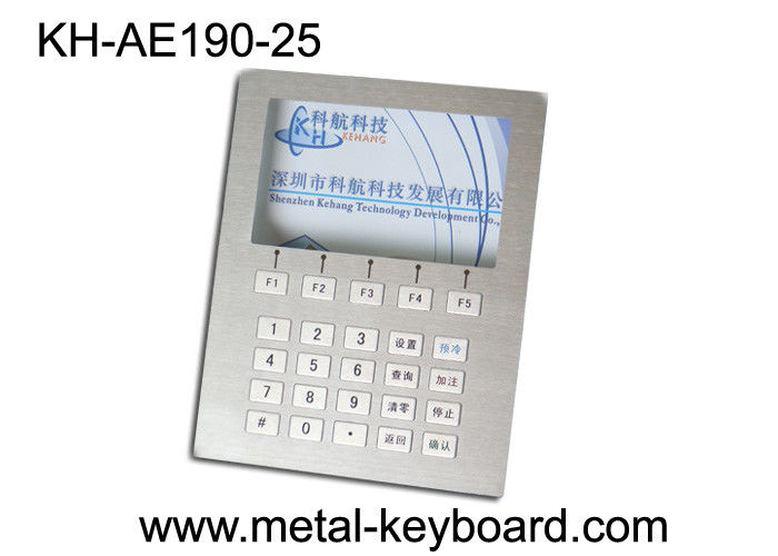 Custom Layout Stainless Steel Keyboard  ,  Digital Kiosk Keypad with 25 Keys