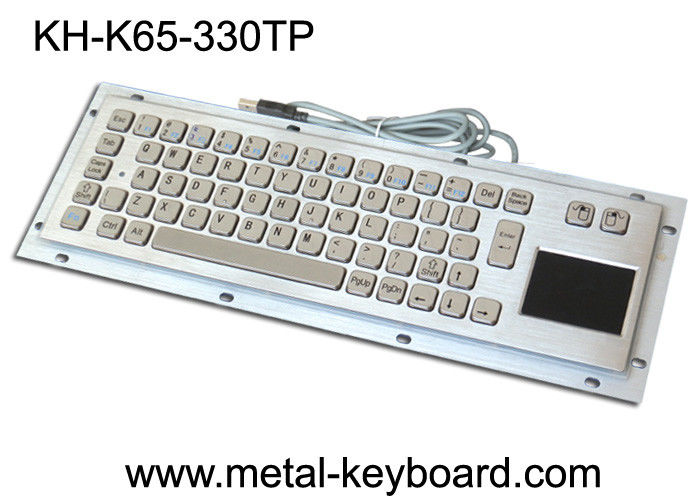 Rear Panel Mounting Industrial Computer Keyboard with 65 Keys and Touchpad