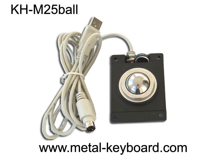 Optical Panel Mount Mouse Trackball Standard USB / PS2 Output Support Dia 25mm
