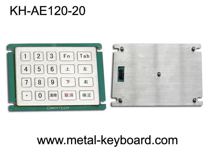 Custom Layout 20 Keys Metal Numeric Keypad for Self - Service Kiosk