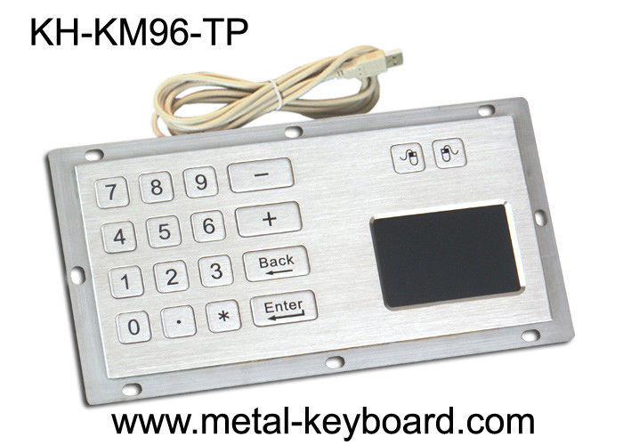 Industrial Panel Mount Touchpad Keyboard with USB Interface , Custom Mechanical Keyboard