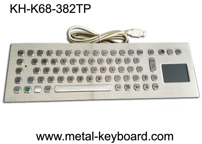 Computer Industrial Keyboard with Touchpad , 70 Keys Waterproof Keyboard With Touchpad
