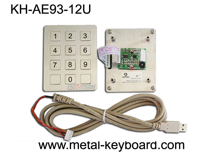 Customized Numeric Stainless Steel Keypad USB Interface Metal Dome Connect PCB Key